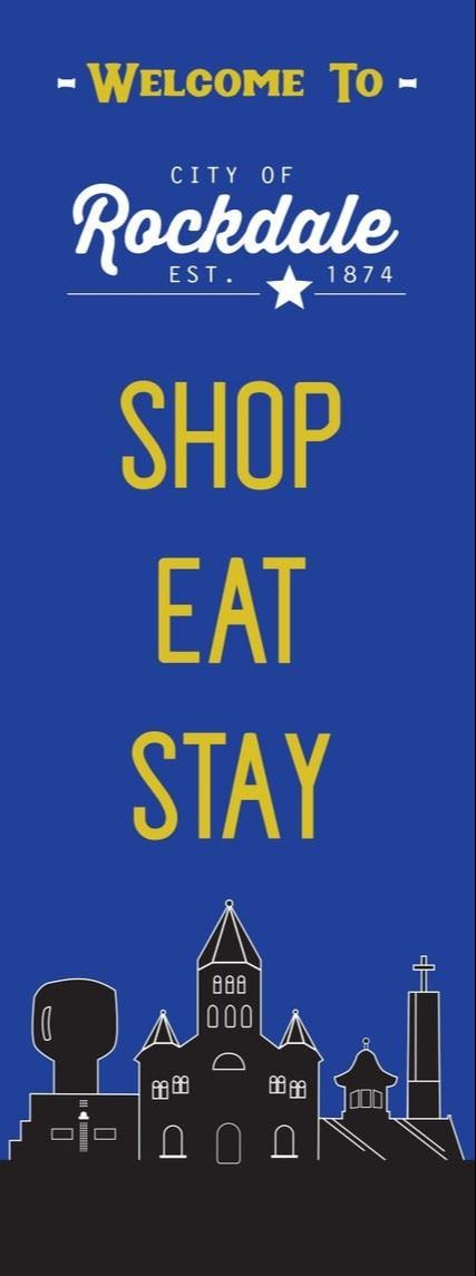 Welcome to Rockdale Shop Eat Stay Banner