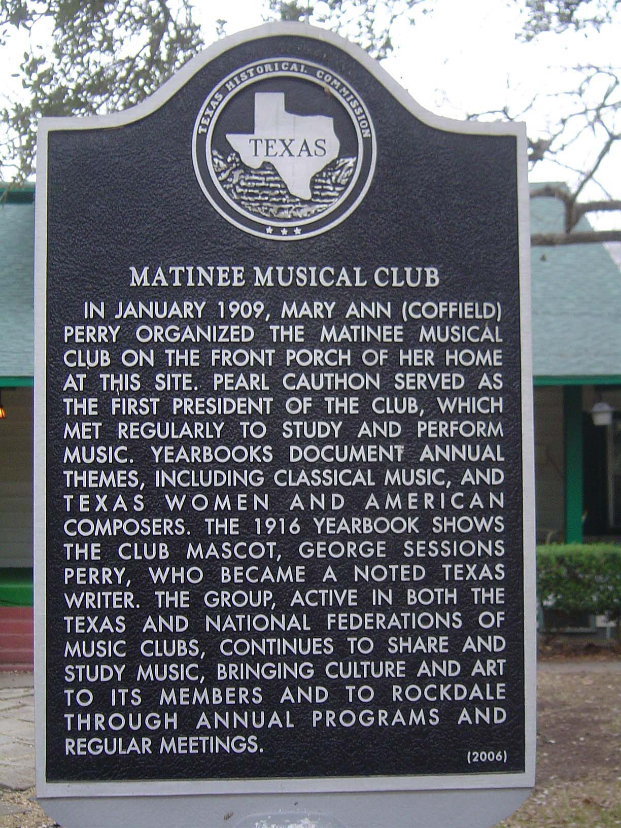Matinee Musical Club Historical Marker