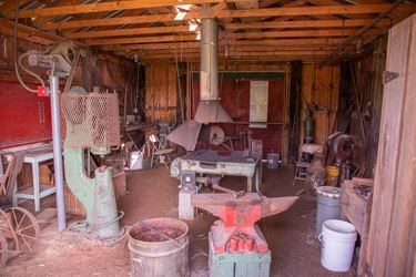 Inside the old Blacksmith Shop