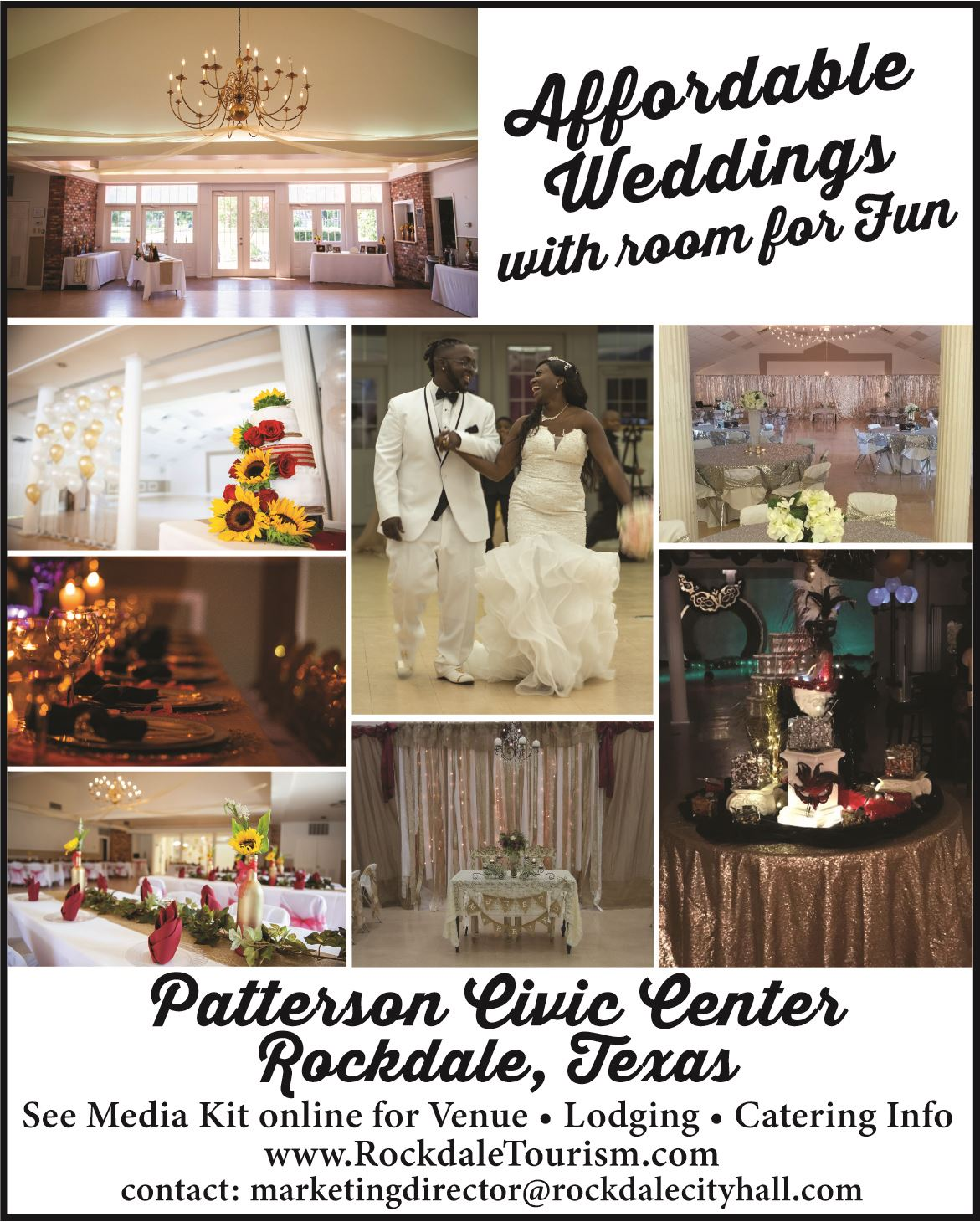Patterson Center Weddings Promotion